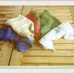 Knitting Scarf Pattern, 5 colors, m..