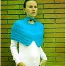 Knitted Vintage Blue Cowl Pattern -..